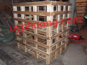 Lồng gỗ liền đế Pallet